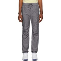 John Elliott Grey Sateen Cargo Pants