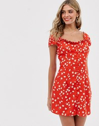 Finders Keepers Mae Mini Dress Red