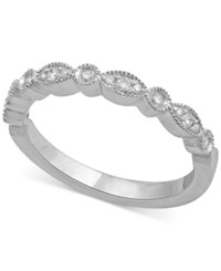 Macy's Diamond Wedding Band 1 6 Ct. T.W. In 14K White Gold