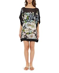 Ted Baker Gem Gardens Swim Cover Up Tunic Black