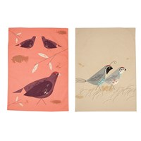 Magpie Game Birdy Tea Towel Set Of 2 Quail And Grouse