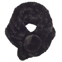 Chesca Knitted Faux Fur Collar Black
