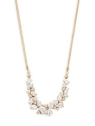 Adriana Orsini Crystal Cluster Frontal Necklace Gold