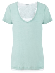 Jigsaw Linen Double Layer T Shirt Peppermint