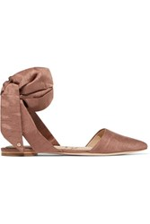 Sam Edelman Brandie Dupion Point Toe Flats Antique Rose