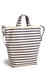 Baggu 'Duck Bag' Canvas Tote Blue Sailor Stripe