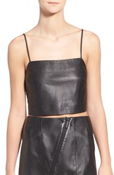 Women's Kendall Kylie Leather Crop Top
