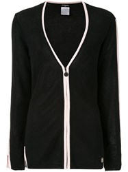Chanel Vintage Two Tone Cardigan Black