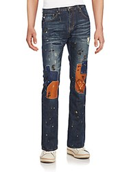 Mostly Heard Rarely Seen Bond Patchwork Jeans Indigo