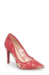 Jessica Simpson Women's Charese Pointy Toe Pump Sunset Pink Suede