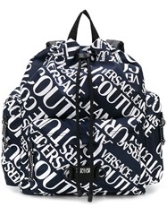Versace Jeans Couture Branded Backpack Blue