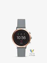Fossil Q Ftw6016 'S Venture Silicone Strap Touch Screen Smartwatch Grey Black
