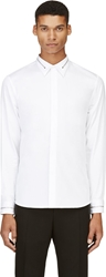 Givenchy White Zipper Trim Shirt