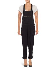 Free People Forest City Overalls Black