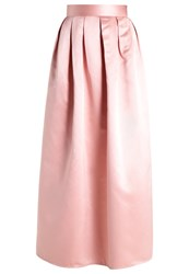 Chi Chi London Leonie Maxi Skirt Rose Gold