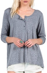 Women's Volcom 'Hurry Up' Long Sleeve Henley Top