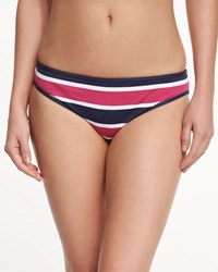 Tommy Bahama Nautical Striped Reversible Hipster Swim Bottom Mare