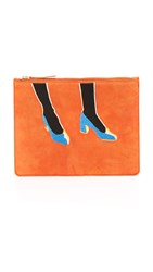 Lizzie Fortunato Zip Pouch Blue Suede Shoes