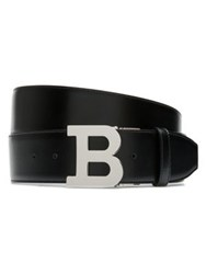 Bally Wide 'B' Buckle Leather Belt