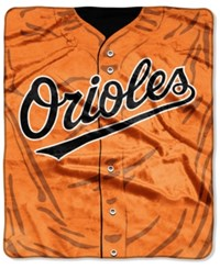 Northwest Company Baltimore Orioles Raschel Strike Blanket Black