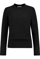 Opening Ceremony Embossed Wrap Effect Jersey Top Black