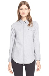 Ayr 'The Brushed' Woven Shirt Heather Grey