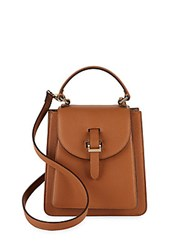 Meli Melo Floriana Textured Leather Crossbody Bag Tan