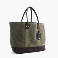 J.Crew Billykirk Waxed Canvas Tote Bag In Olive