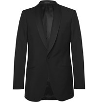 Richard James Black Slim Fit Wool And Mohair Blend Tuxedo Jacket Black