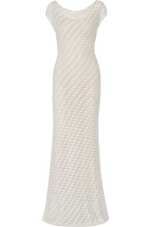 Missoni Crochet Knit Gown Ivory