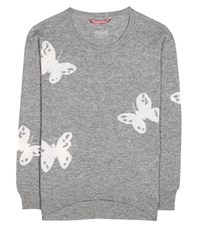 81 Hours Irene Butterfly Wool And Cashmere Sweater Grey
