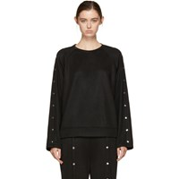Alexander Wang T By Black Snaps Sweatshirt