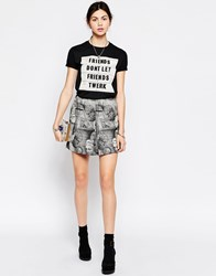 Antipodium Garamond Chatroom Print Mini Skirt Multi