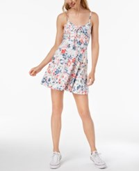 American Rag Juniors' Lace Up Fit And Flare Dress Egret