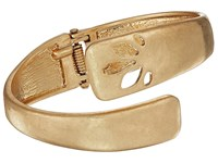 The Sak Perforated Bypass Cuff Bracelet Gold Bracelet