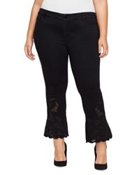 William Rast Plus Flared Cropped Jeans Black
