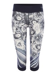 Ted Baker Monorose Printed Cropped Legging Black Multi