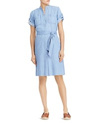 Ralph Lauren Short Sleeve Denim Shirt Dress Blue