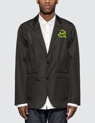 Denim By Vanquish And Fragment Iconic Neon Logo Functional Blazer Jacket