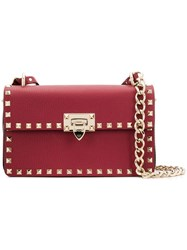 Valentino Qw2b0c15vsl U27 Bordeaux Furs And Skins Leather Red