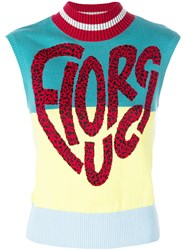 Fiorucci Sleeveless Logo Sweater Multicolour