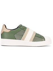 Moa Master Of Arts Glittery Elastic Band Sneakers Green
