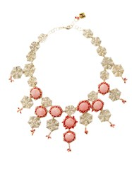 Rosantica By Michela Panero Corte Beaded Necklace Pink