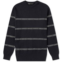 Versace Taped Crew Knit Blue