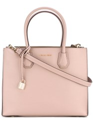 Michael Michael Kors Logo Plaque Tote Women Leather One Size Pink Purple