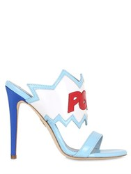 Chiara Ferragni 100Mm Pow Bang Satin Sandals