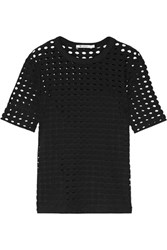 Alexander Wang T By Cutout Stretch Jersey Top Black