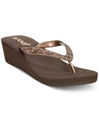 Reef Mid Mist Ii Wedge Flip Flops Women's Shoes Brown