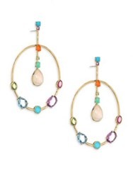Ippolita 18K Rock Candy Semi Precious Multi Stone Drop Earrings Gold