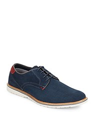 Steve Madden Round Toe Lace Up Oxfords Navy
